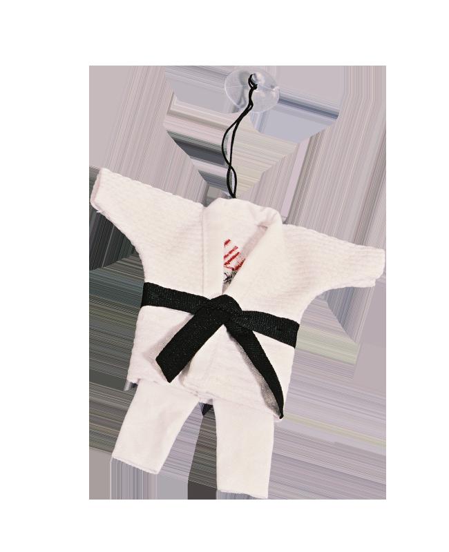 FW Anhänger Karate Anzug Mini Gi weiß