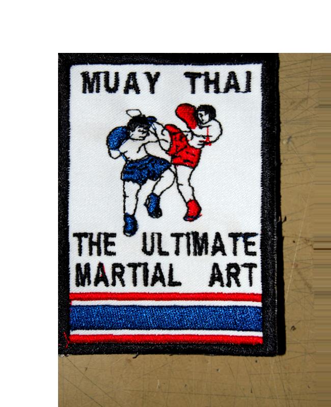 Aufnäher Stickabzeichen Muay Thai