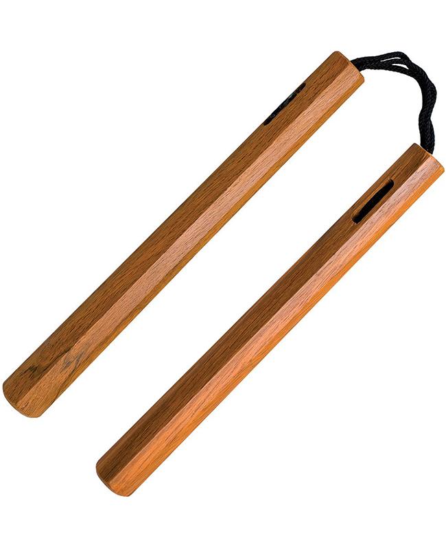 Nunchaku Octagon Roteiche Schnur Griffe 8 eckig 30cm