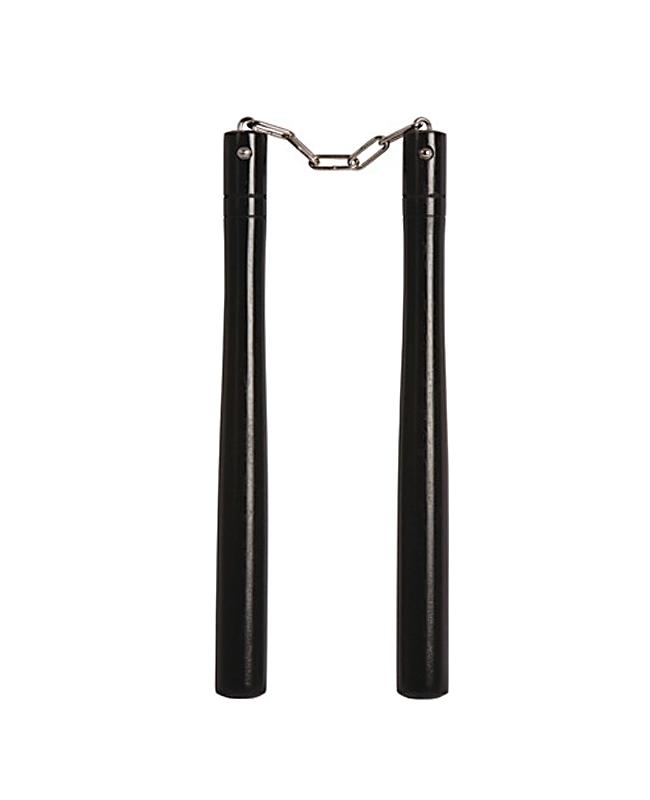 Nunchaku Shadow Kette Griffe rund schwarz 30 cm