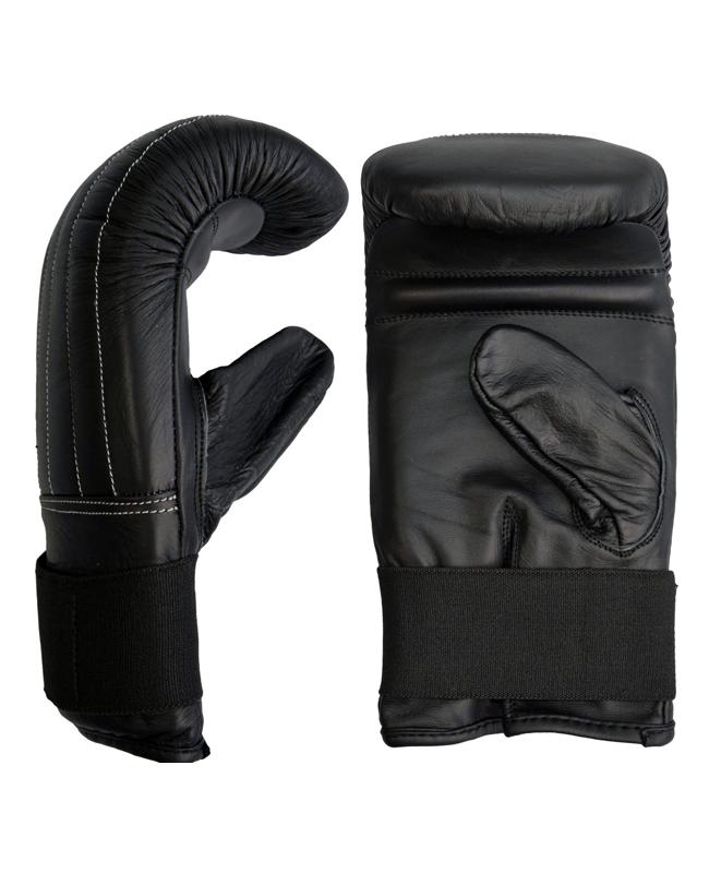 Boxsack Handschuhe Leder Bag Glove schwarz