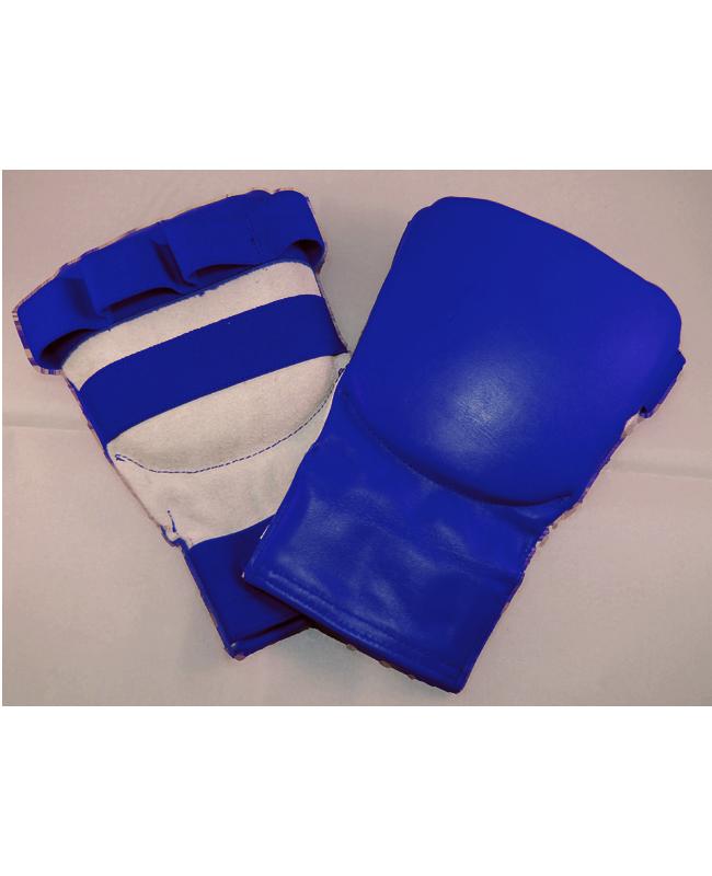 """Faustschutz """"Point"""" Leder blau L"""