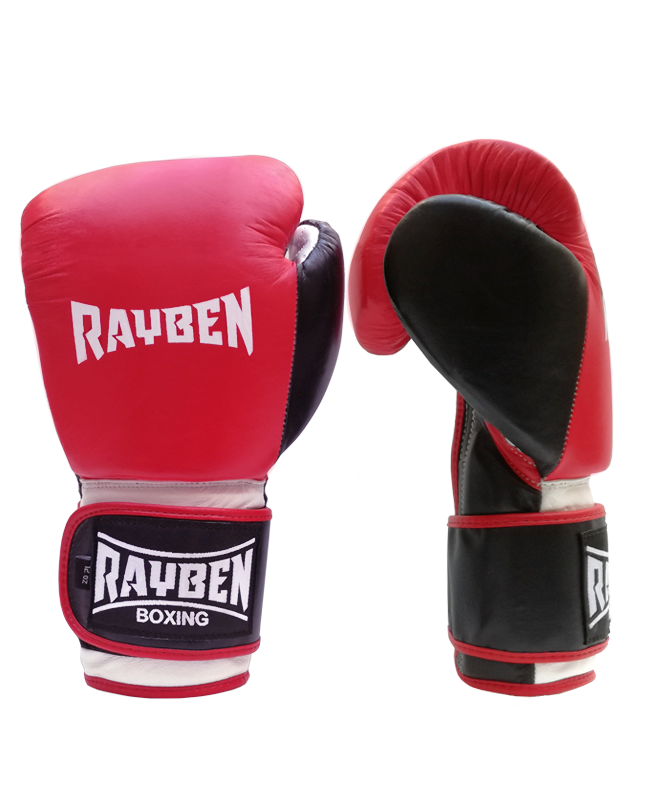 RAYBEN Alpha Boxhandschuhe Leder rot/weiß/schwarz