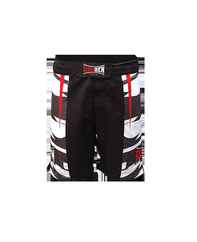 Rayben Zero MMA-Short schwarz/rot