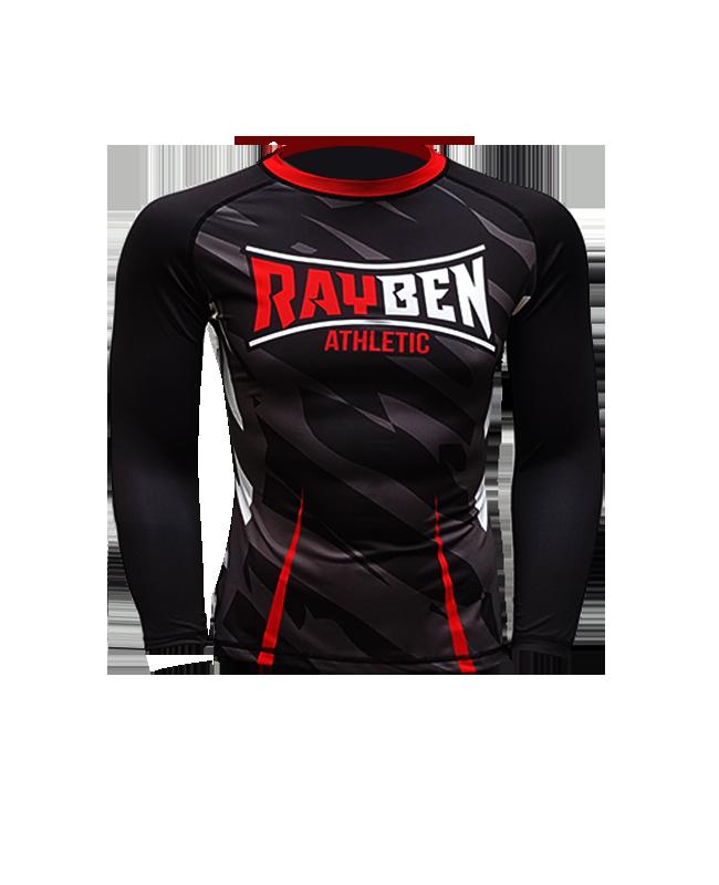 Rayben Zero Rashguard Langarm XL schwarz/rot XL