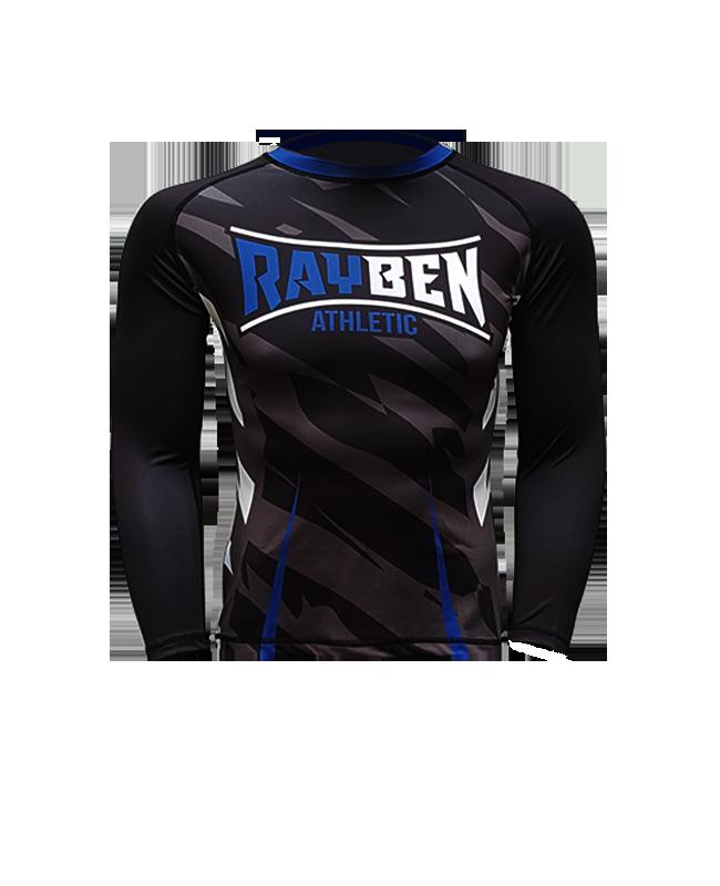 Rayben Zero Rashguard Langarm schwarz/blau