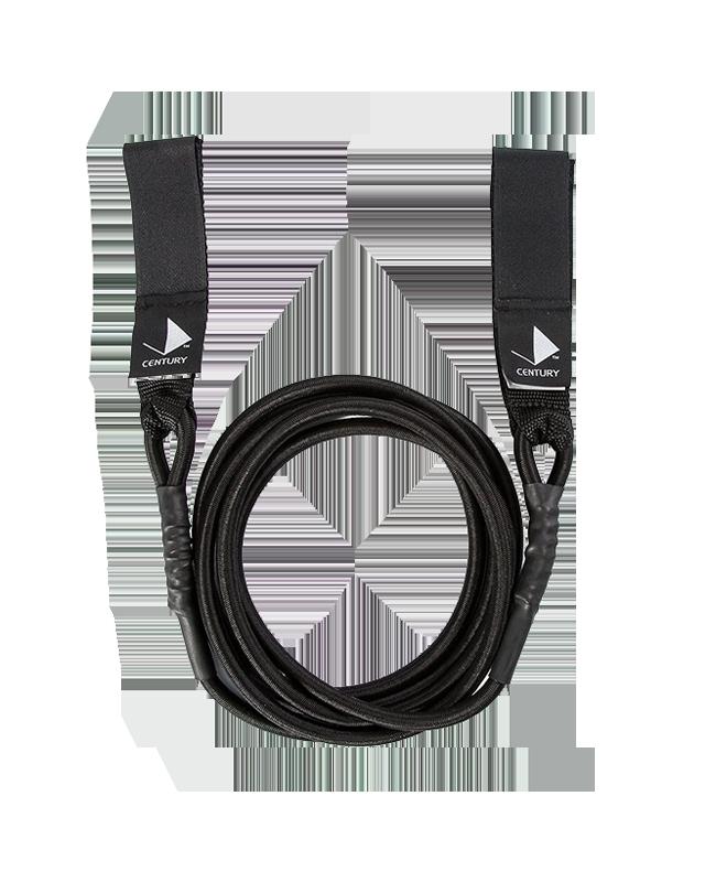 Century Ripcord Gummi Seil mit Schlaufen medium schwarz