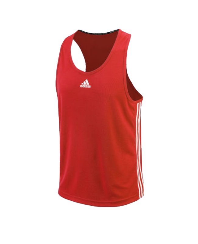 adidas Boxing Top Punch Line rot weiss size M ADIBTT02 M