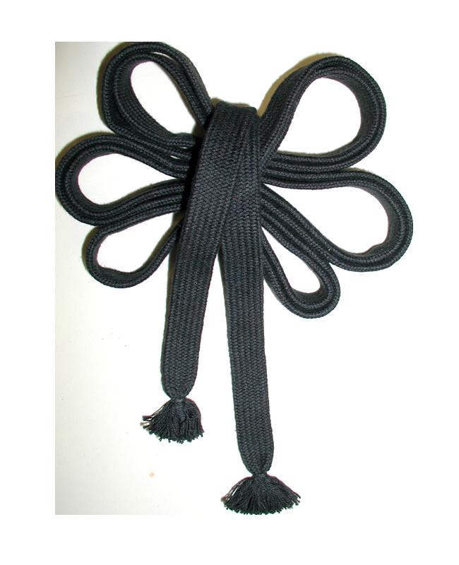 Sageo Cotton schwarz, 7 Shaku ca.212cm