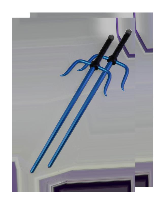 FW Octagon Sai Aluminium blau ca. 50cm 1Paar (2 Stk.)