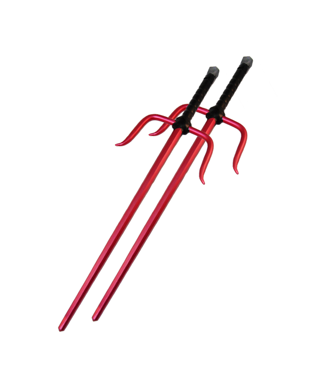 FW Octagon Sai Aluminium rot ca. 50cm 1Paar (2 Stk.)
