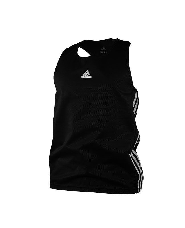 adidas Boxing Top Punch Line schwarz weiss size L ADIBTT02 L