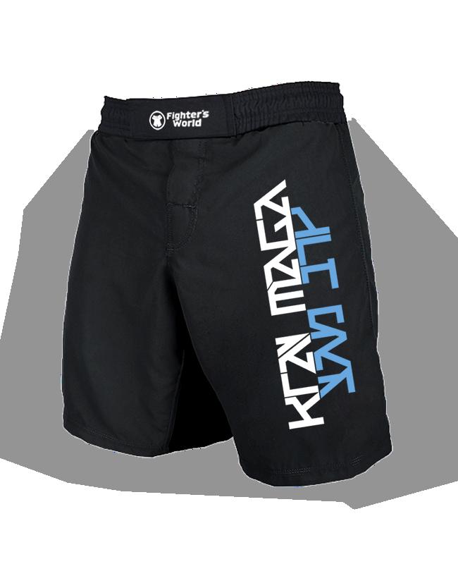 Krav Maga MMA Fightshorts schwarz/blau
