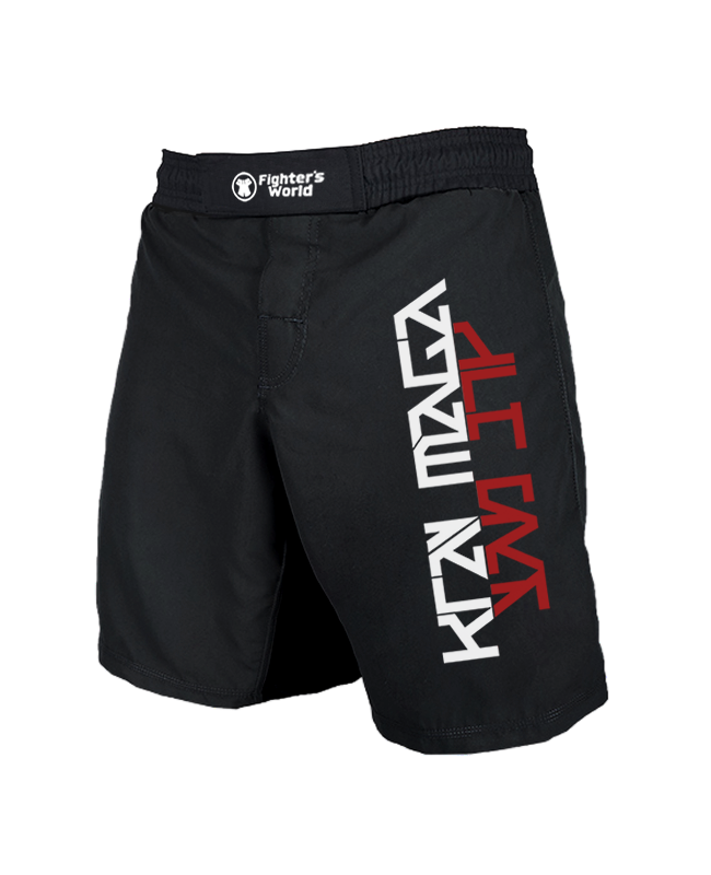 Krav Maga MMA Fightshorts schwarz/rot Grösse L L