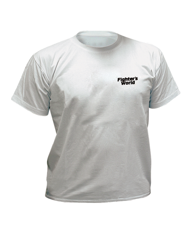 T-Shirt FIGHTERSWORLD Classic, L grau mit Bestickung L