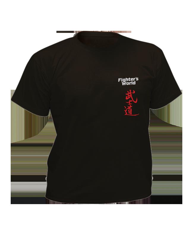 T-Shirt Bushido schwarz mit Bestickung L