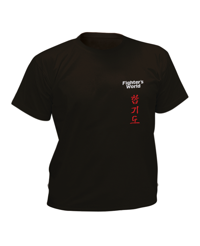 T-Shirt Hapkido schwarz mit Bestickung L