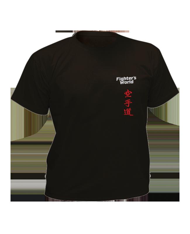 T-Shirt Karate L schwarz mit Bestickung L