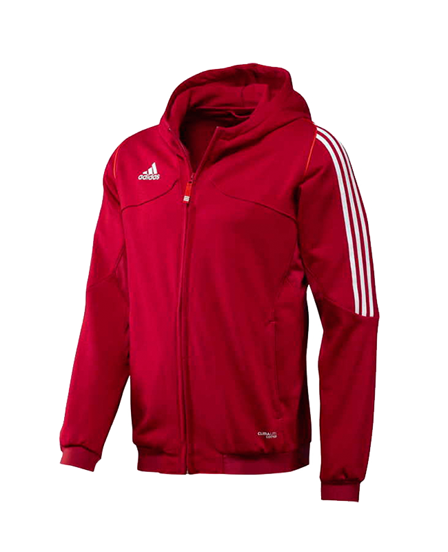 adidas T12 Team Hoodie WOMAN Gr.50 rot +XL adi X13650 50