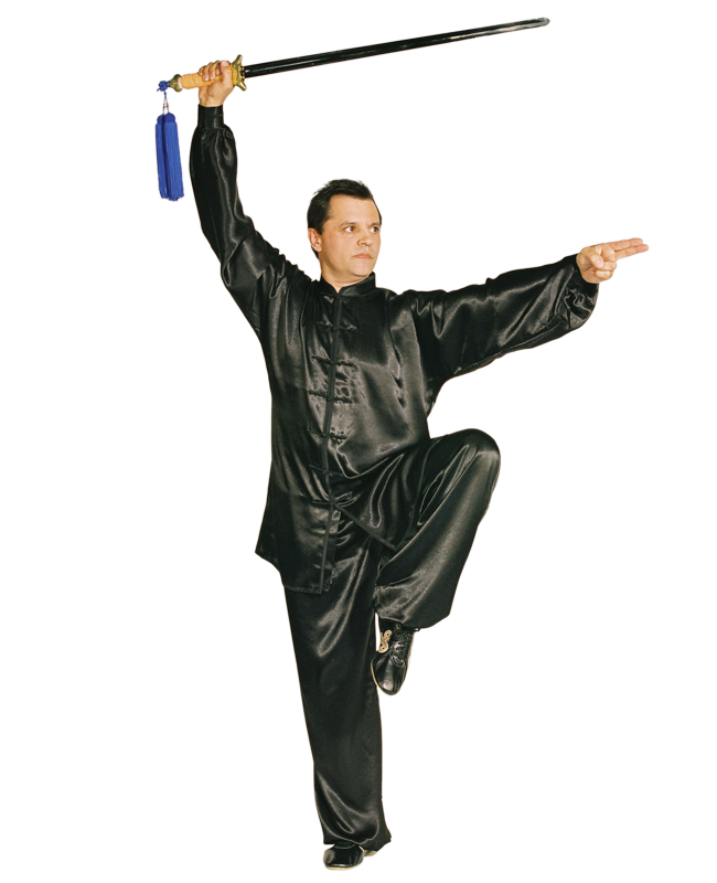 Kung Fu/ Tai Chi Anzug schwarz Gr. M Satin 170cm 170cm