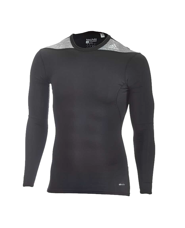 adidas TECHFIT Langarm TF C&S LS schwarz S P92268 Compression Shirt S