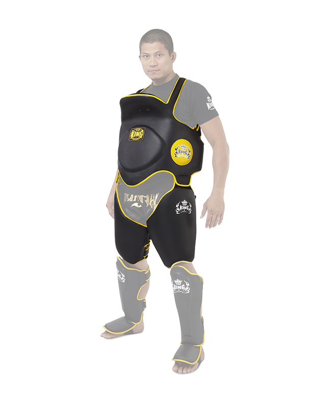 TOP KING Belly and Thight Protector Bauch und Lowkick Trainer M TKBLTP M