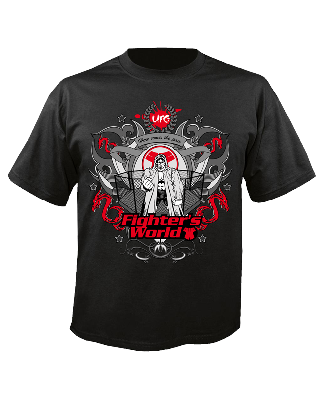 FW MMA T-Shirt CAGE schwarz the Ultimat Fighting Gear