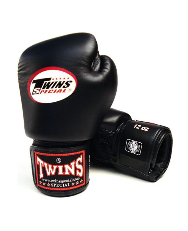 Twins Boxhandschuhe Pro Velcro schwarz Klettverschluss