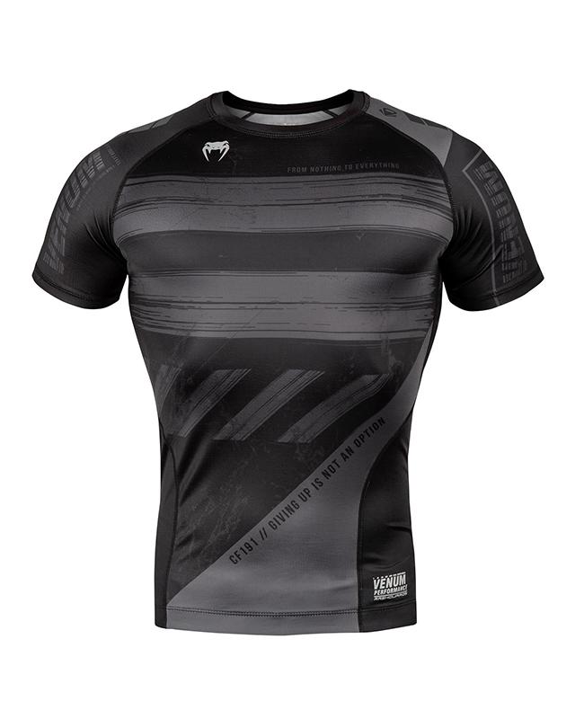 Venum AMRAP Compression T-Shirt kurzarm schwarz/grau 03693-109