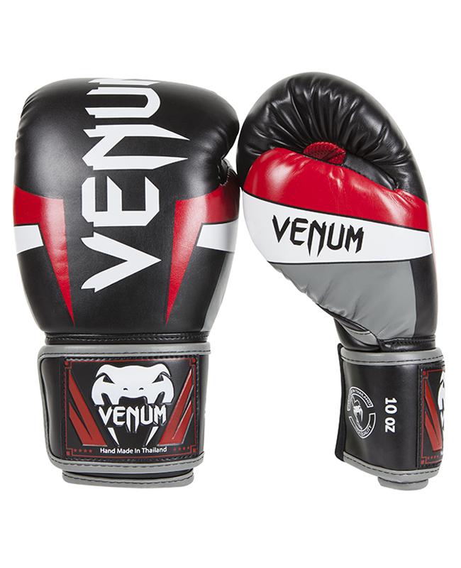 Venum ELITE Boxhandschuhe 12 oz schwarz/rot/grau Venum 0984 12oz