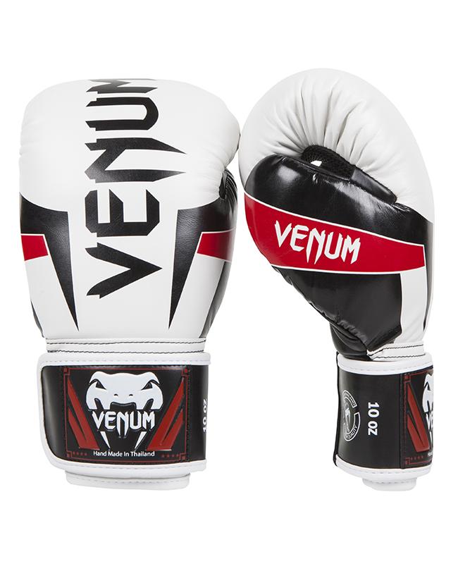 Venum ELITE Boxhandschuhe ice/schwarz/rot Venum 0985