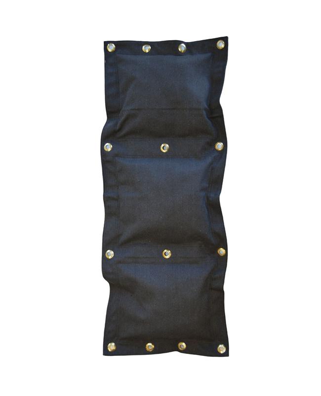 Wandschlagsack 3 Segmente ca. 45x115cm (unbefüllt) schwarz