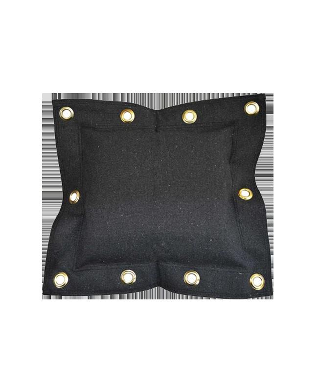 Wandschlagsack 1 Segment ca. 50 x 44 cm schwarz (unbefüllt)