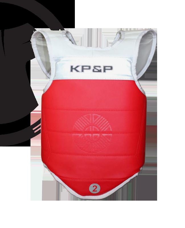 KP&P adidas elektronische Schutzweste, rot EBP M