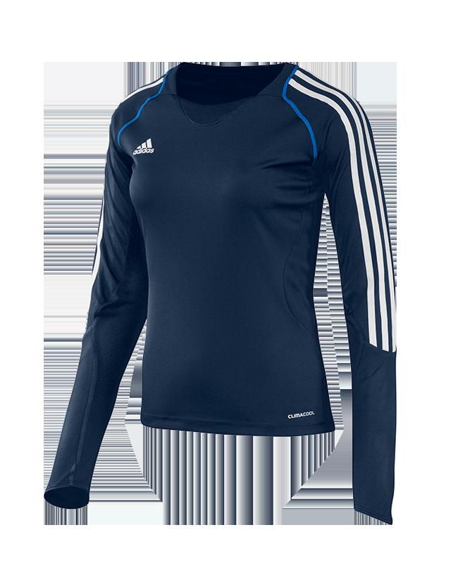 adidas T12 Clima Cool Shirt Langarm WOMAN Gr.34 blau +XS adi X13172 34