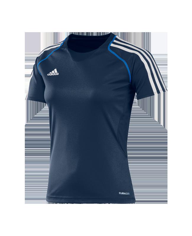 adidas T12 Clima Cool Shirt Kurzarm WOMAN blau adi X13856 32