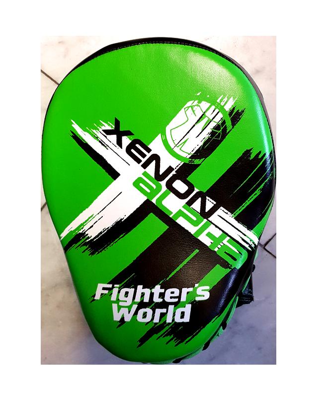 Fighter`s World XENON ALPHA Handpratze Focus Mitt green/black 1Paar