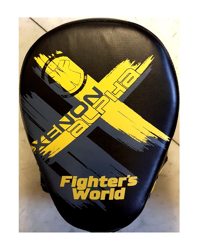 Fighter`s World XENON ALPHA Handpratze Focus Mitt black/yellow/grey 1Paar
