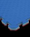 FW Kampfsportmatte Competition - Dreiecke  2er Set rot/blau Puzzle Wendematte (Bild-2)