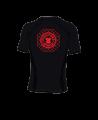 Fighter`s World Rashguard Octagon Kurzarm schwarz rot (Bild-2)