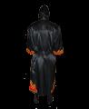 FW Boxer Mantel FLAME schwarze Robe mit Flammen Motiv (Bild-2)