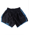 FW CORNER Thaibox Hose schwarz/blau Muay Thai Short (Bild-2)