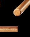 FW HANBO Roteiche 3cm Holzstab braun ca.91 cm (Bild-2)