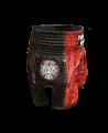 FW Thaibox Hose schwarz/rot Muay Thai Short (Bild-2)