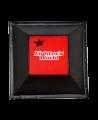 FW Wandschlagpolster Trapez aus Vinyl rot/schwarz (Bild-2)