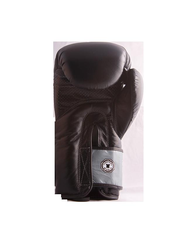FW Black CORNER Boxhandschuhe 10 oz Klettverschluss schwarz/grau 10oz