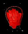 FW Handmitt curved, Cubapad Leder rot/schwarz 1Stk. (Bild-3)