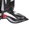 Venum Elite Stand up Shinguards Schienbein Ristschutz Black/Red/Grey 0986 (Bild-3)