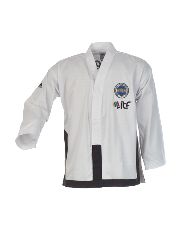 adidas itf taekwondo anzug black belt champion 170 cm. Black Bedroom Furniture Sets. Home Design Ideas