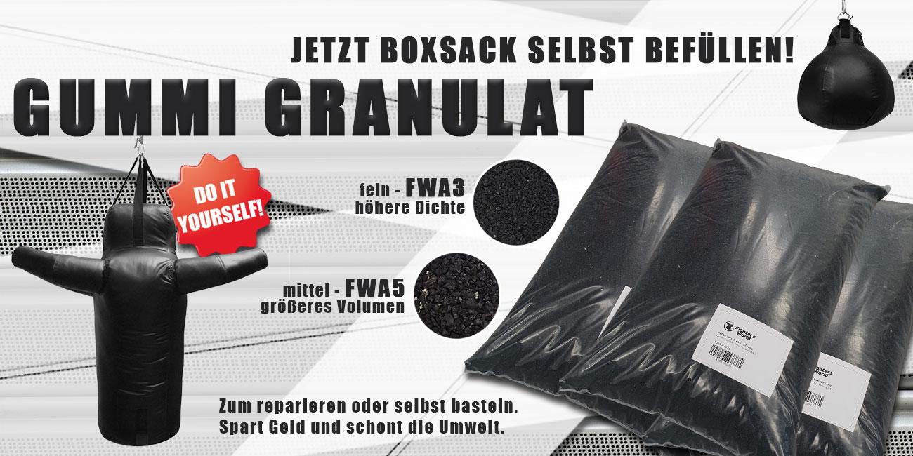 Gummigranulat Boxsackfüllung